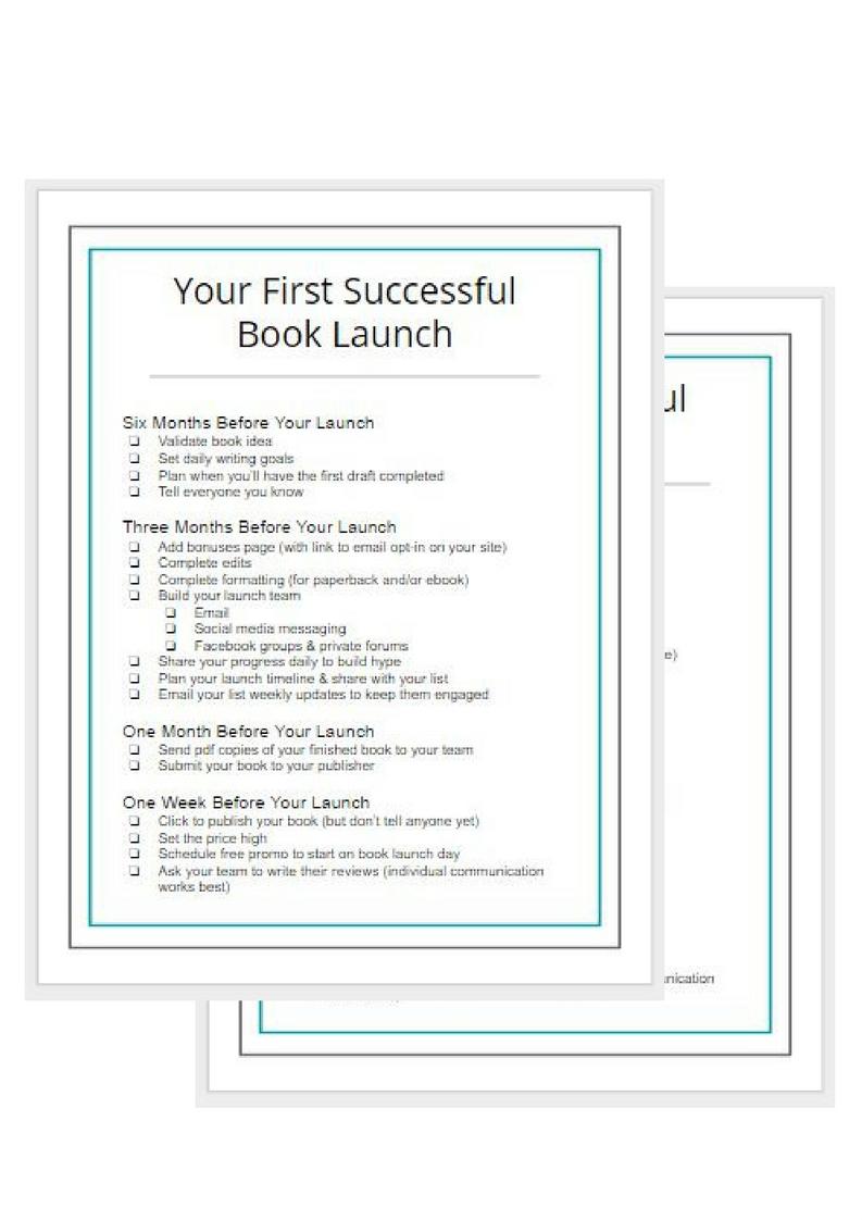 book launch checklist - Gillian Perkins